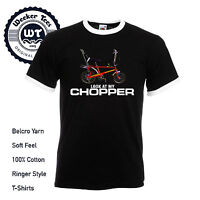 Funny Raleigh Chopper T shirt Retro 80's Classic Ringer Tee Bike Vintage Classic