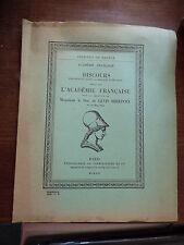 discours de l'académie française pour Monsieur le Duc de levis Mirepoix - 1954