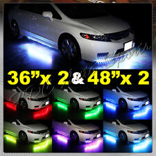 "7 Color Underbody Under Glow Neon LED Lights 36"" X 2 & 48"" X 2 Brown Universal 5"