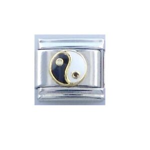 9mm  Italian Charms E83 Yin Yang & and Fits Classic Size Bracelet