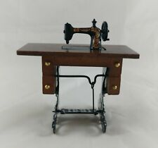 "Town square miniatures Sewing Machine, 3"" tall x 3 1/8"" wide x 1 3/8"" deep"