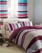 Catherine Lansfield Modern Textured Stripe Duvet Cover & Pillowcase Set - King