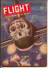 Flight #6 6/1941-Gernsback-air war cove & storyr-WWII-war  planes-FN