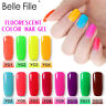 BELLE FILLE Neon 12 Colors Nail Gel Polish Soak-off Lacquers Manicure UV / LED