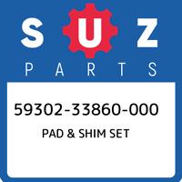 59302-33860-000 Suzuki Pad & shim set 5930233860000, New Genuine OEM Part