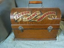 antique edison home cylinder phonograph for restore original condition