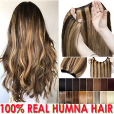 Hidden Secret One Piece Weft Wire In 100% Real Human Hair Extensions Crown Halo