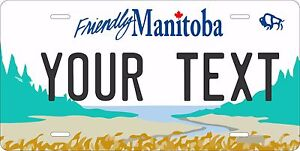 Manitoba 1997 Canada Tag License Plate Personalized Auto Bike Motorcycle Moped