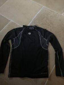 SKINS YOUTH Carbonyte  MOCK NECK L/S TOP - BLACK - YXL