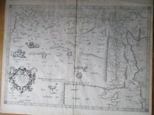 Antique 1695 map of Egypt, Libya, Africa, Gerard Mercator