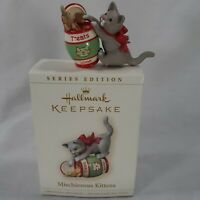 Hallmark Keepsake Ornaments Mischievous Kittens 2006 8th in Series Christmas