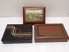 3 Ancienne Boites coffret cigarette Seita vintage gift case box cigare 70's