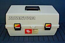 Vintage Adventurer 1823 Tan Tackle Box By Flambeau! Excellent Condition!