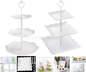 3 Layer Afternoon Tea Cup Cake Sandwich Stand Dessert Decoration Party Tableware