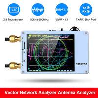 Nanovna 50KHz-900MHz Vector Network Antenna Analyzer UV VNA VHF HF UHF TFT White
