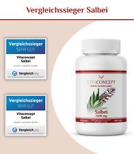 Salbei Kapseln I Hochdosiert I 2000 mg / Kaps. I 120 Stück I Vegan I VITACONCEPT