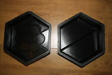 2 x CONCRETE PAVING MOULD-SLAB-BRICK-FLAG 12/4  and 12/3   -  240x210x60