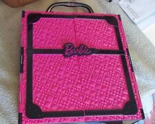 "Barbie Closet, Plastic Hot Pink & Black, 12.5""x11.5""x3.5 "" used"