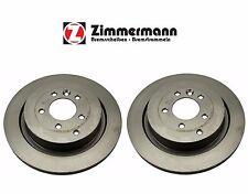Land Rover LR3 Pair Set of Rear Left & Right Disc Brake Rotors Zimmermann Coat Z
