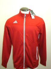 Adidas Mens Team Utility Full zipper Climalite Jacket Power Red White Free Ship