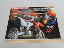 Brochure depliant originale Honda cr 80 125 250 500 cross prospekt
