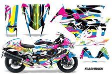 AMR Racing Graphic Kit Wrap Part Suzuki Hayabusa 1300 Street Bike 08-13 FLASHBK