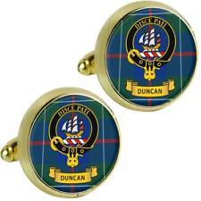 Mens Cufflinks Duncan Scottish Clan Crest Brass Finish Presentation Boxed