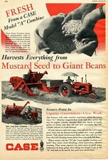 1948 Print Ad of Case Model A & F-2 Combine Tractor mustard seed to giant beans