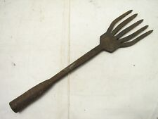 Antique 5-Tine Fish Eel Frog Gig Tool Spear Head Hand Forged Fishing Tool Fork B