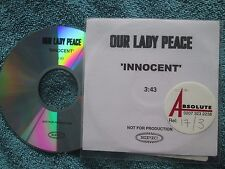 Our Lady Peace – Innocent Label: Epic Records Promo UK CD Single