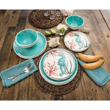 Dinnerware 18 Piece Set Of Dishes Kitchen Tableware Bowls Dining Plates Teal