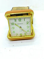 Phinney Walker Travel Alarm Clock Vintage PW 28 Pig Tan Original Box & Bag