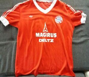 Adidas FC Bayern München Trikot Magirus Deutz 80er Jahre L Nr.14