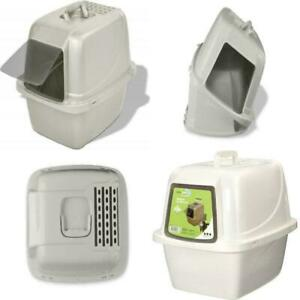 Van Ness Large Cat Litter Box Pan Enclosed Hooded Covered Kitty House w Filter