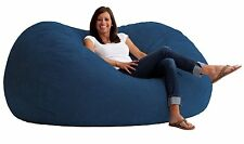 Large Soft Blue Bean Bag Beanbag Chair Huge 7' Adult Size Memory Foam All rooms