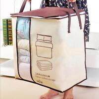 Foldable Storage Bag Clothes Blanket Quilt Closet Sweater Organizer Box Pouch S