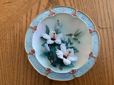 "Lena Liu ""Rose-colored Dawn"" 3-D Collector's Plate w/Coa-Bradford Exchange Mint"