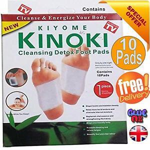 Body Detox Foot Pad Patches 10 Pads(5 Pairs) Kinoki Remove Harmful (NO BOX)