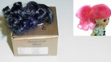 """DOLL Wig, Monique Gold """"Jill"""" 3.25"""" in OFF BLACK - for Amelia Thimble (On Box)"""