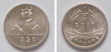 1896 Guatemala silver 1/4 real-Volcano/Mountains/Sun nice UNC