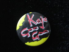 Kajagoogoo-Group-Logo-Yellow-Pin Badge Button-80's Vintage-Rare