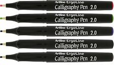 Artline 242 Ergoline Calligraphy Pen Set Assorted Colours Ergonomic - Pack 5