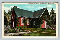 Petersburg VA, 1735 Old Blandford Church, Cemetery, Vintage Virginia Postcard