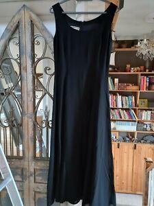 Ladies Vintage Ankle Length Black Dress Monsoon size 10