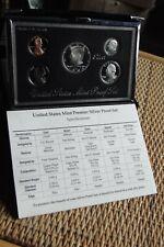 1993 US Mint Premier Silver Proof Set, Original Box + COA