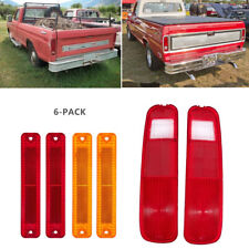 6Pcs Tail Rear Bumper Light Lamp Set For 73-79 FORD F150 F250 E150 78-79 Bronco