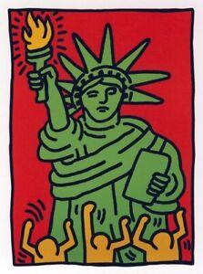 "Keith Haring, ""Statue of Liberty"", Offsetdruck, POP ART"