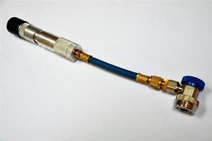 Car AC HVAC/R Tool Compressor Oil/UV Dye Injector Syringe Low Side Quick Coupler