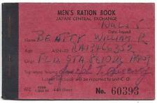1955 Men's Ration Book, Japan Central Exchange - Tobacco & Beer Ration Stamps