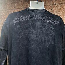 Monarchy men Long sleeve t-shirt black Tattoo Medium embroidered